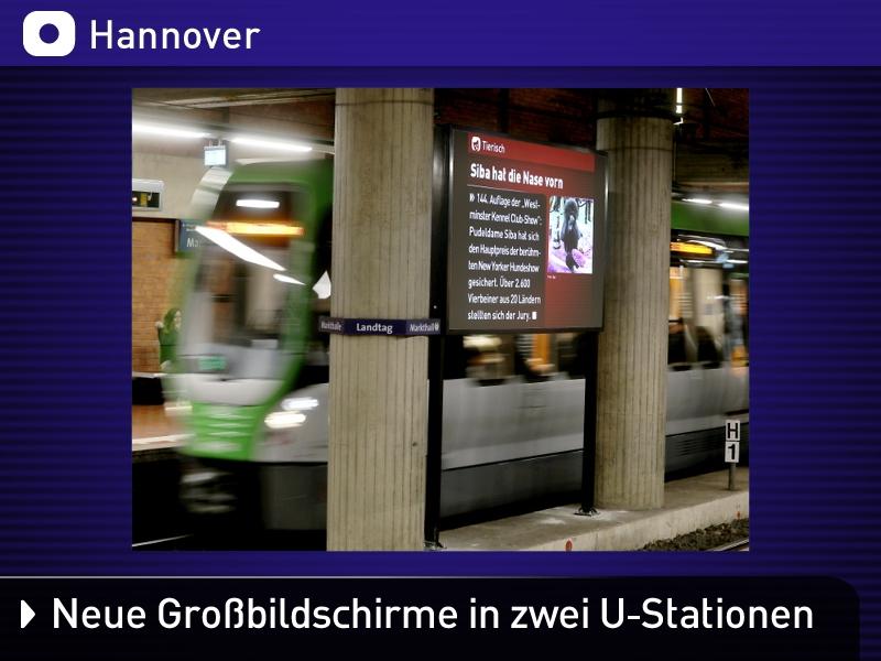 Beitrag Fahrgastfernsehen Großbildschirme