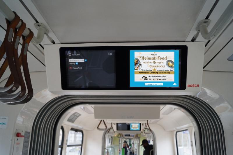 Bildschirm Fahrgastfernsehen